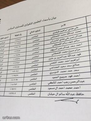 تعيين 32 معلماً على المستوى السادس