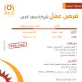 وظائف كاشير ورئيس قسم حسابات في شركة سعد الدين - المنطقة الشرقية
