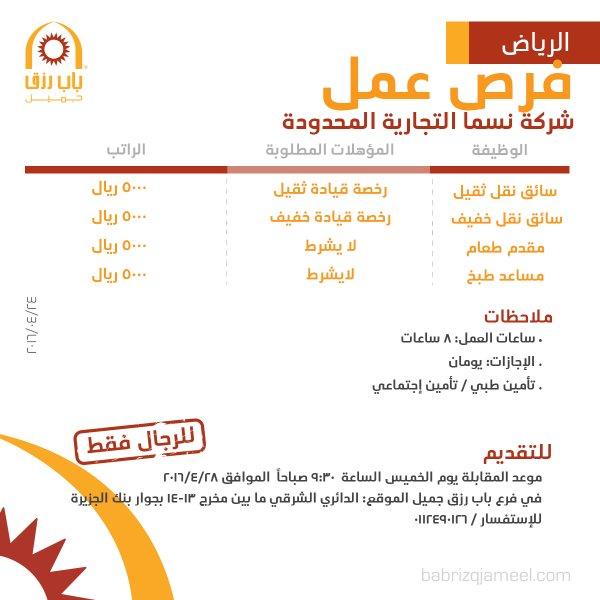 غدا الخميس التقديم على وظائف في شركة نسما التجارية الرياض وظائف السعودية